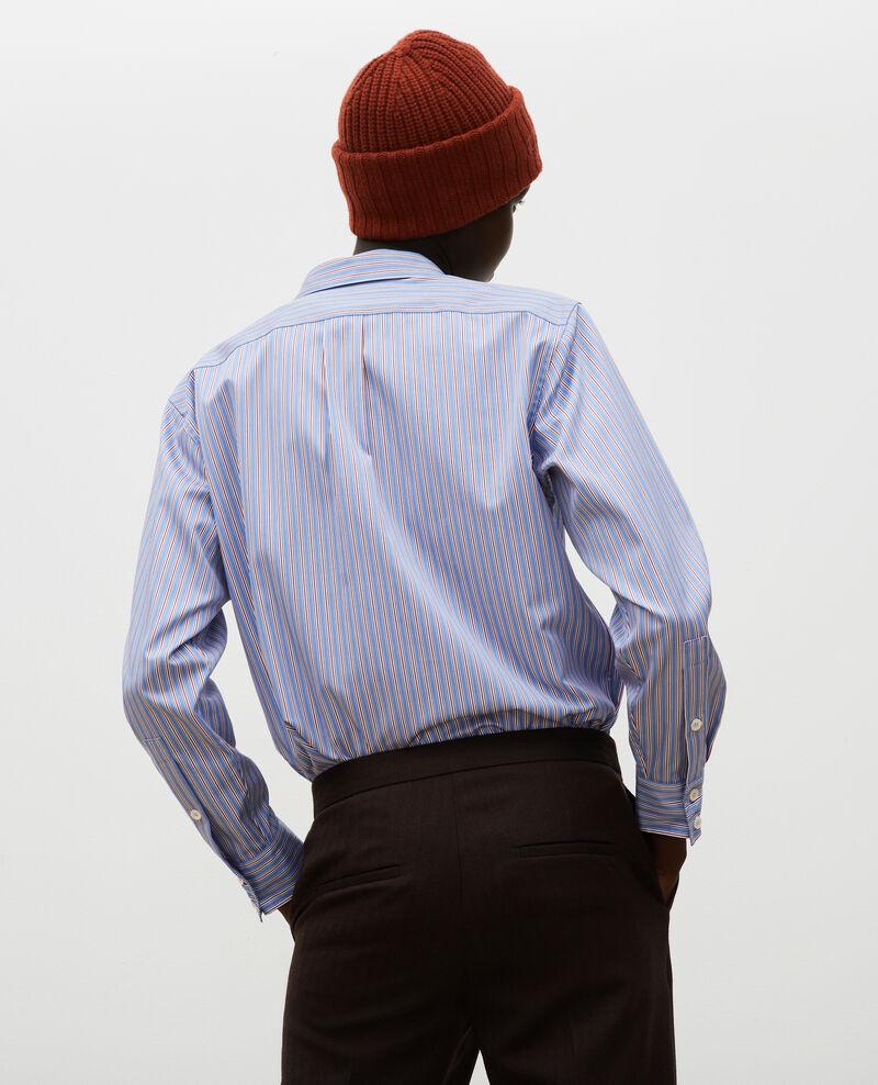 Herrenhemd aus Supima-Baumwolle Stripe2 blue Myndo