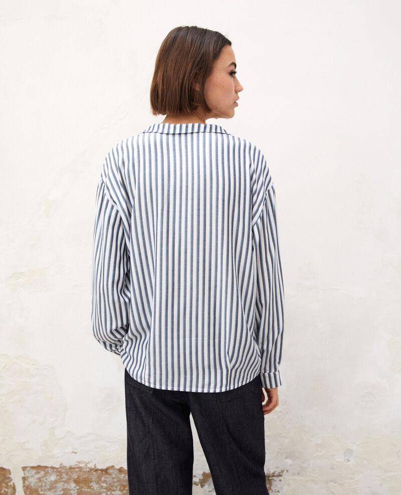 Bluse mit Pyjamakragen Off white Gladys