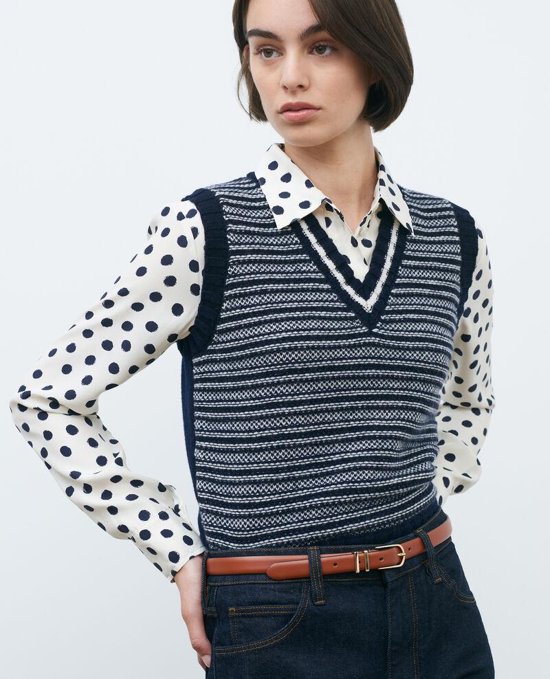 Ärmelloser Pullover aus Woll-Jacquard Jaqrd nv Pavilly
