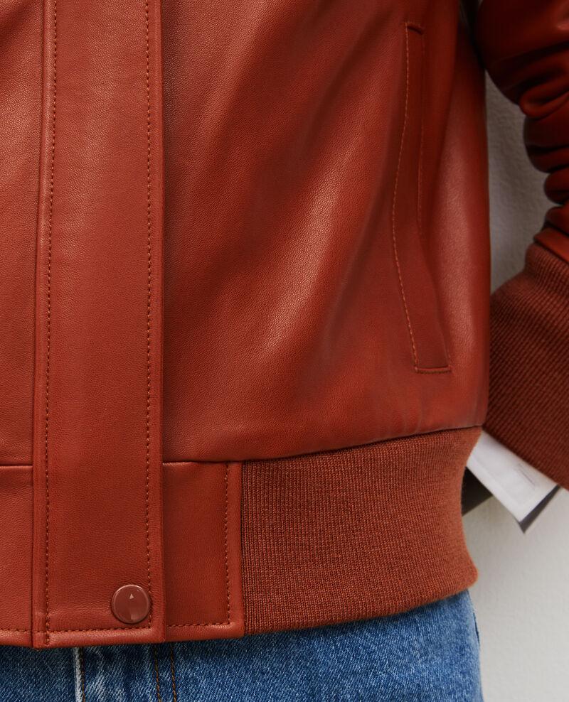 Jacke aus Lammleder mit Reißverschluss Camel Mettray