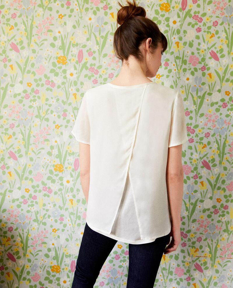 T-Shirt aus Bimaterial Off white Jabelle