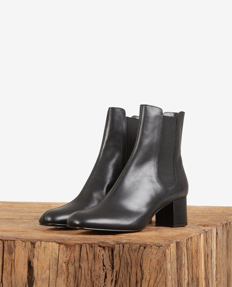 Boots aus Leder Noir Destin
