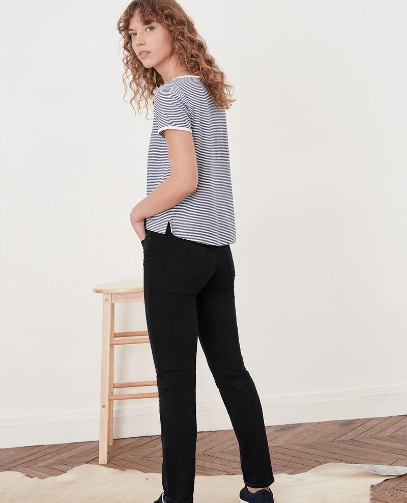 Jeans in Zigarettenform mit Pfirsichhauteffekt Navy Dhanna