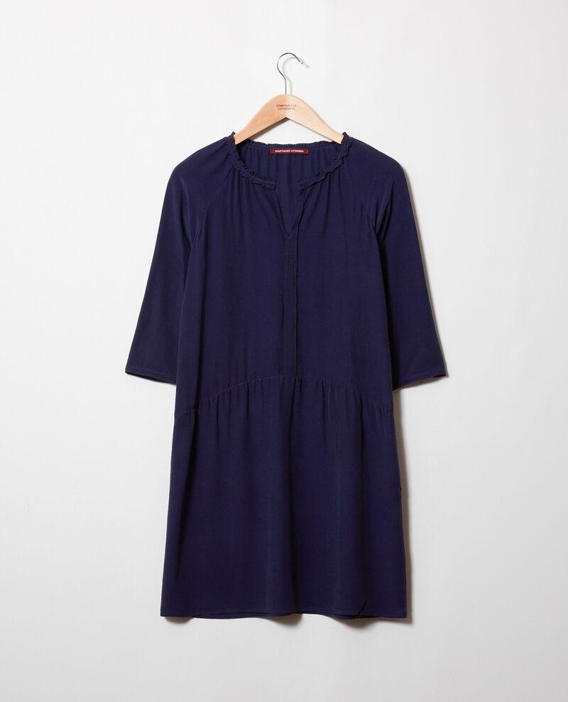 Kleid mit Seide Evening blue Jeopard