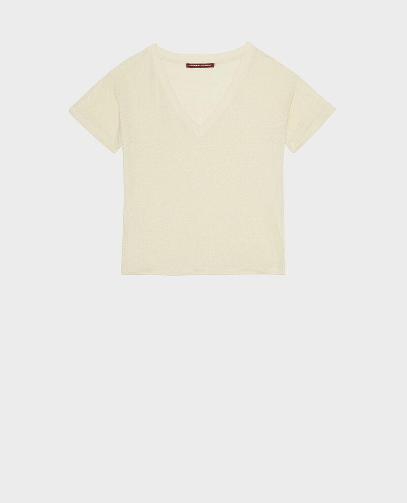 T-Shirts aus Jersey-Leinen Tender yellow Locmelar
