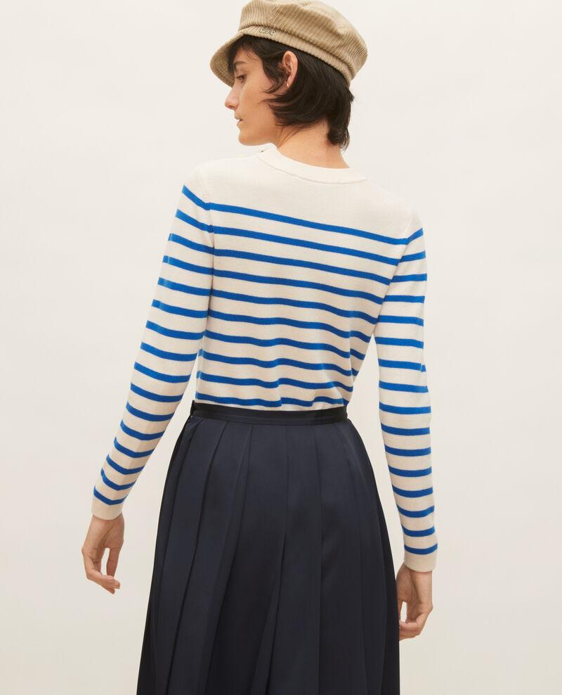 MADDY - Wollpullover im Marinelook Stripes princess blue gardenia Liselle