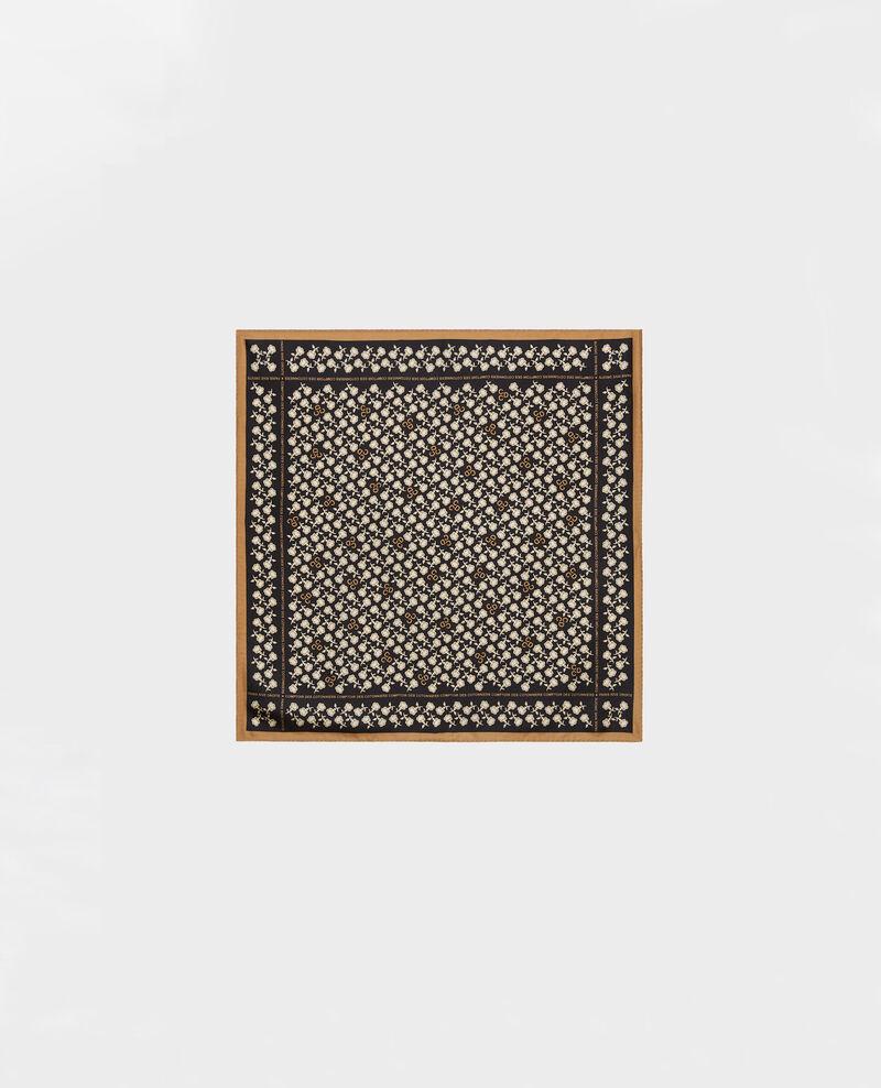 Quadratisches Seidentuch Black beauty Mediteranee