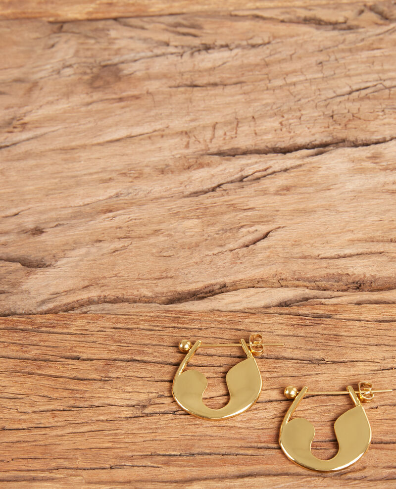 Sicherheitsnadel-Ohrringe Gold Formi