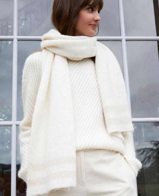 Schal mit Lurexdetail  OFF WHITE