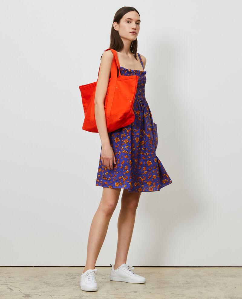 Kurzes Kleid aus Leinen Indie-big-blue Nassandria