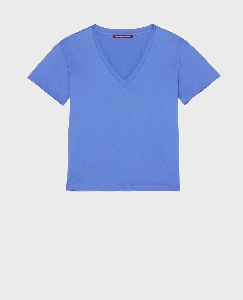 T-Shirt aus Baumwolle mit V-Ausschnitt Amparo blue Laberne