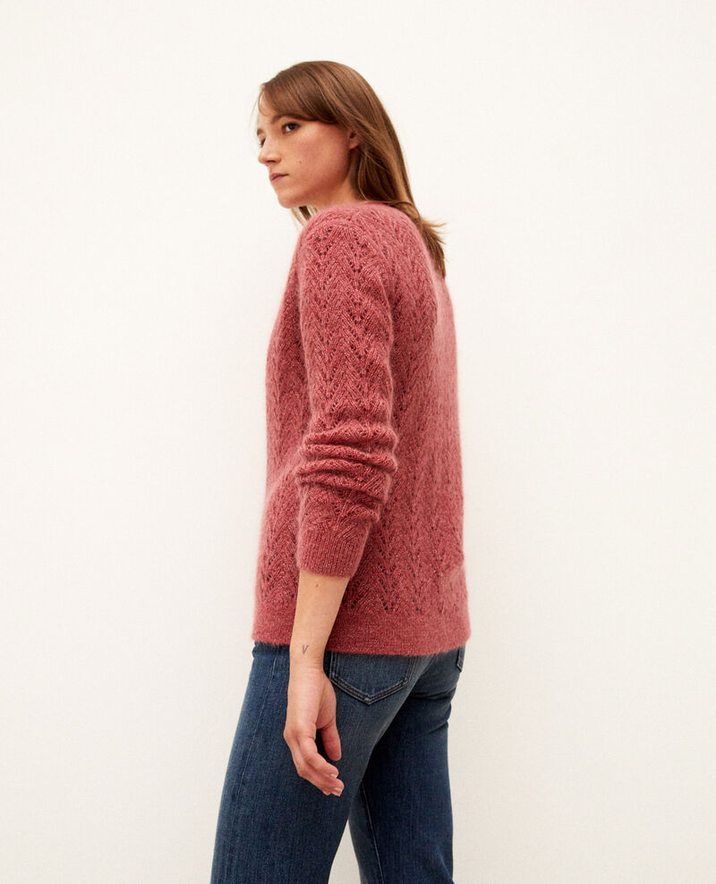 Cardigan mit Mohair Earth red Grisette