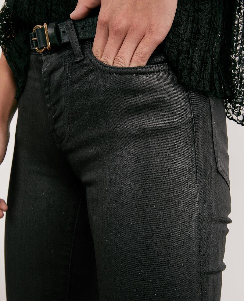 Paillettierte Skinny-Jeans  Noir Daix