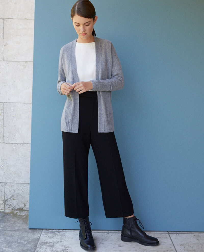 Cache-cœur-Cardigan aus Kaschmir Light heather grey Germain