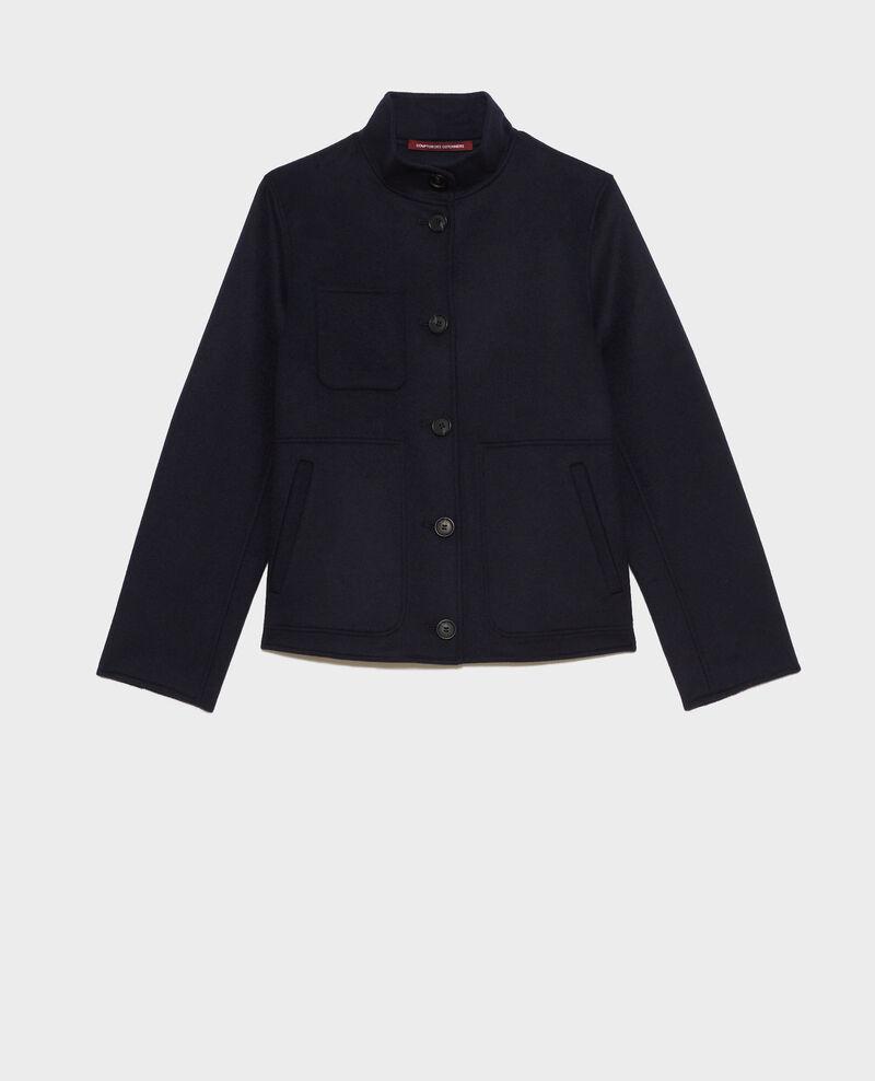 Kurze Jacke aus Wolle und Kaschmir Night sky Pauguio