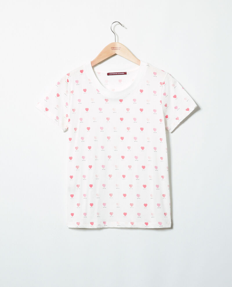 T-Shirt mit Herzmuster Off white Ired