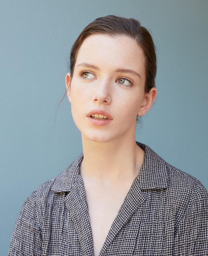 Bluse mit Knittereffekt Grau Gabon
