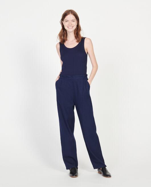 Hose mit Leinen und Baumwolle MARITIME BLUE