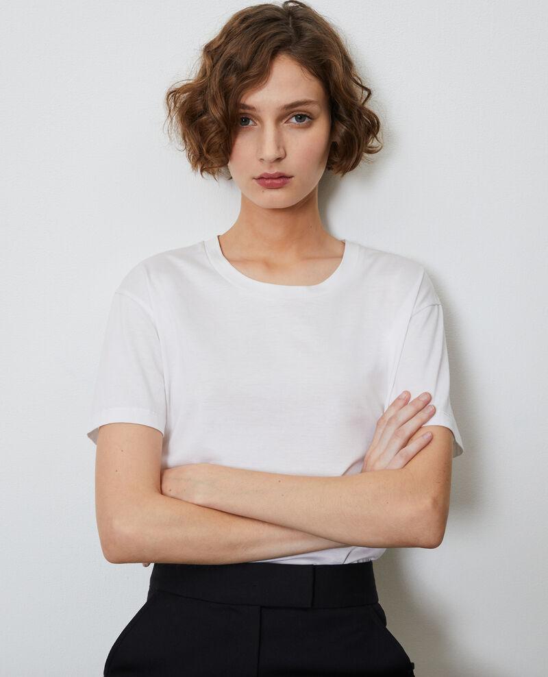 T-Shirt aus Baumwolle mit Rundhalsausschnitt Optical white Lirous