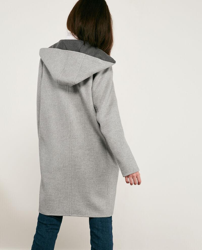 Doubleface-Wollmantel Dark grey/light grey Darbin