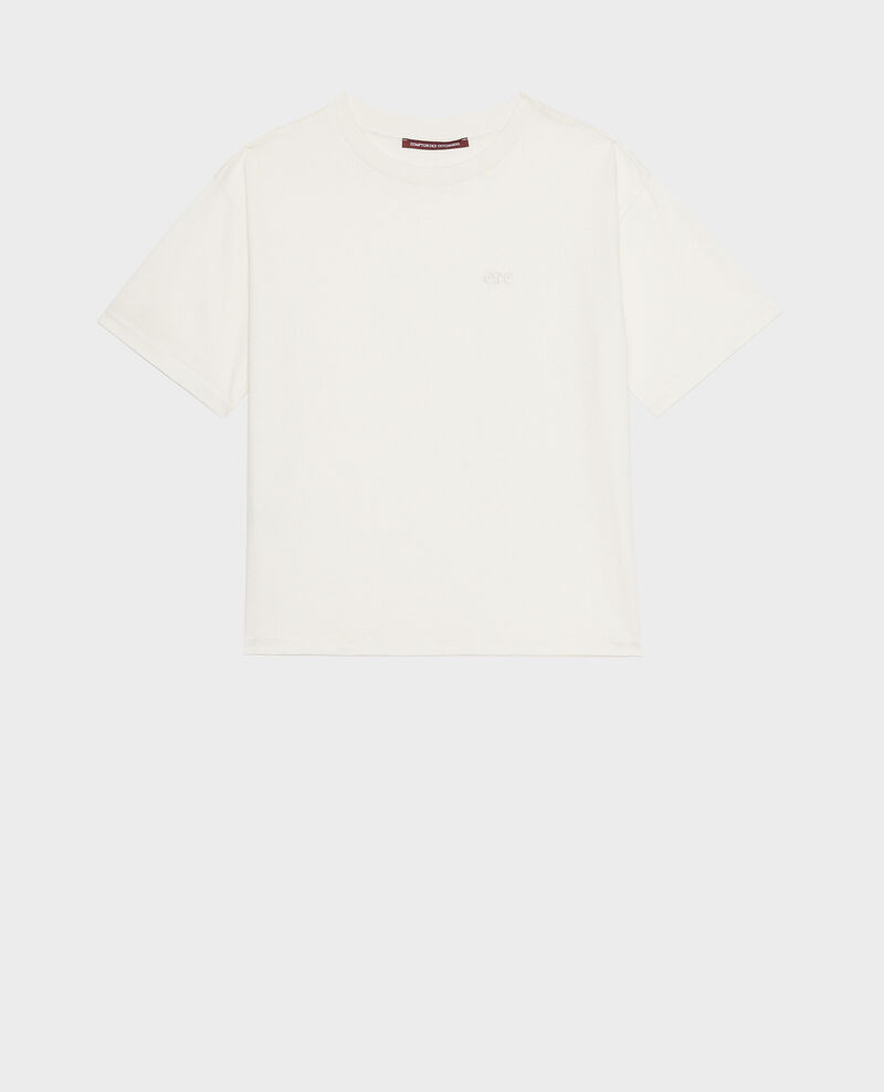 Oversize-T-Shirt aus Baumwolle mit kurzen Ärmeln Jet stream Maincy