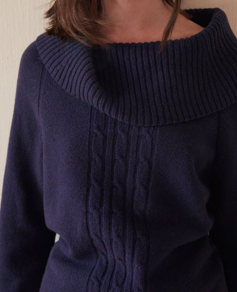 Pullover mit Zopfmuster Peacoat Girma