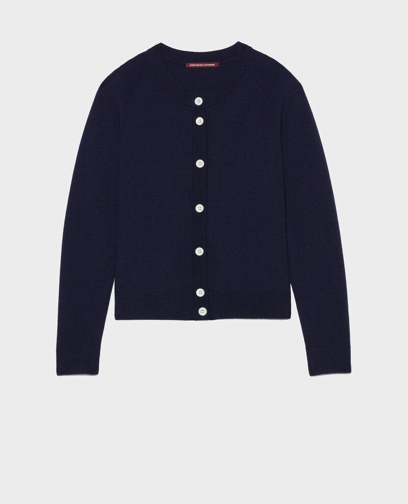 Zeitloser Cardigan aus Wolle Maritime blue Louvres