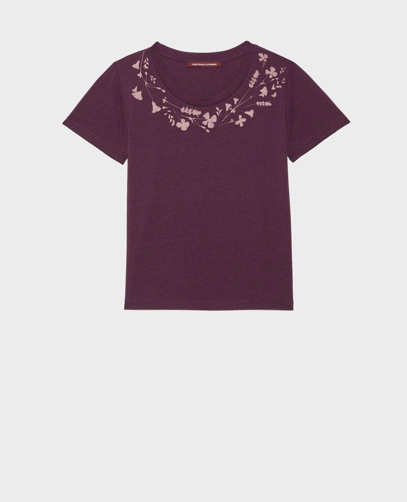 Fließendes T-Shirt mit Rundhalsausschnitt Potent purple Preaux