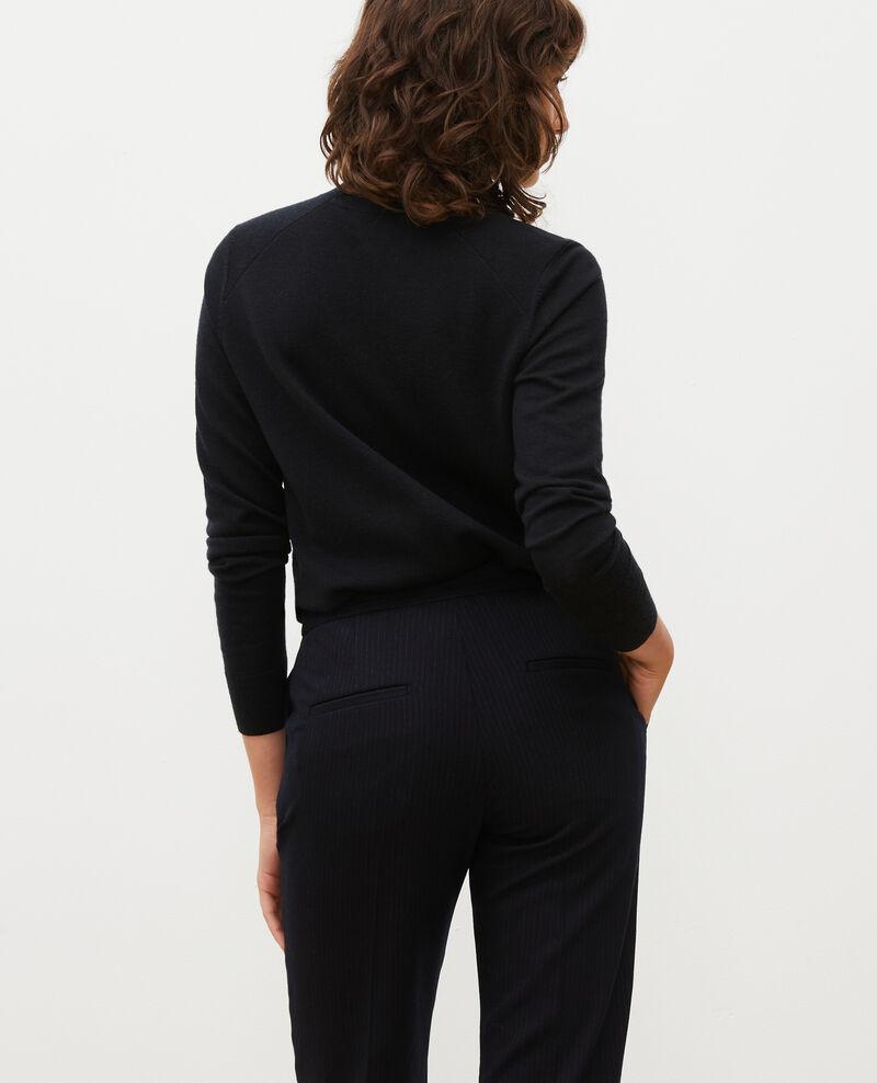 Pullover aus Merinowolle mit Stehkragen Black beauty Malleville