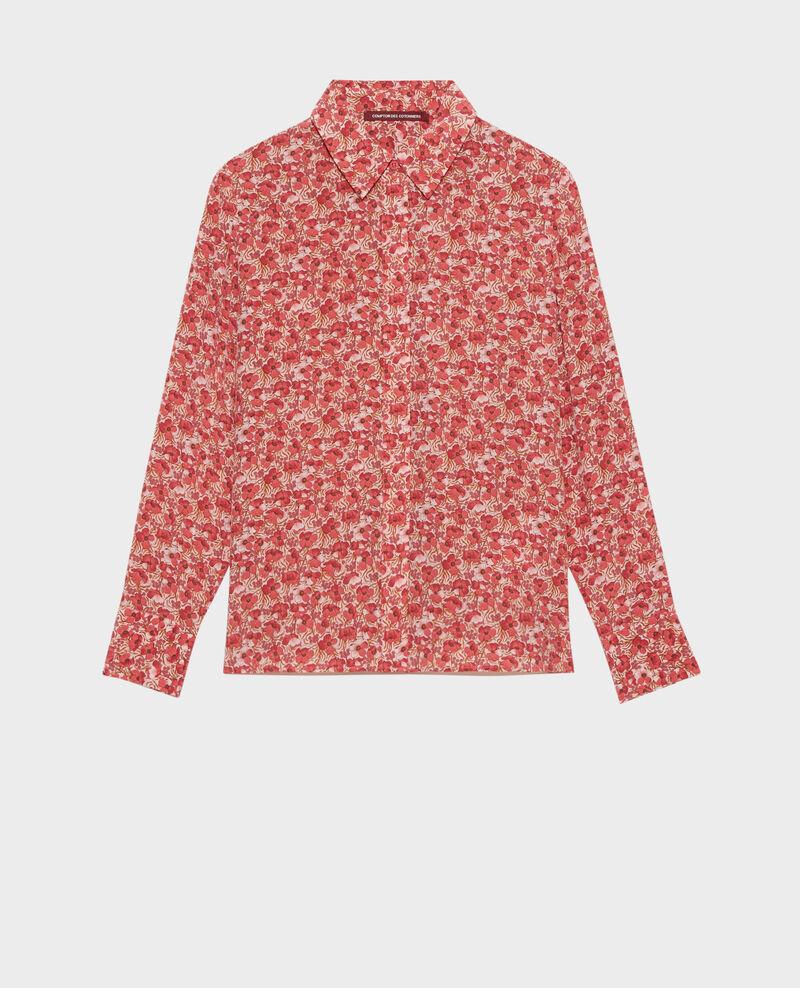 SIBYLLE - Langärmliges Seidenhemd Art deco pink Misabethou