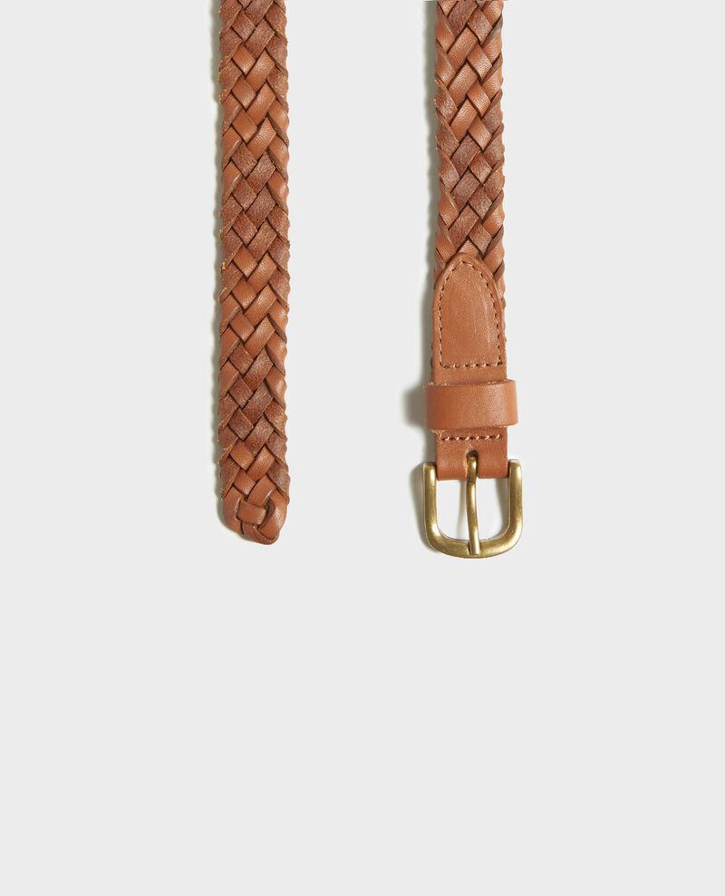 Geflochtener Ledergürtel Camel Luddington