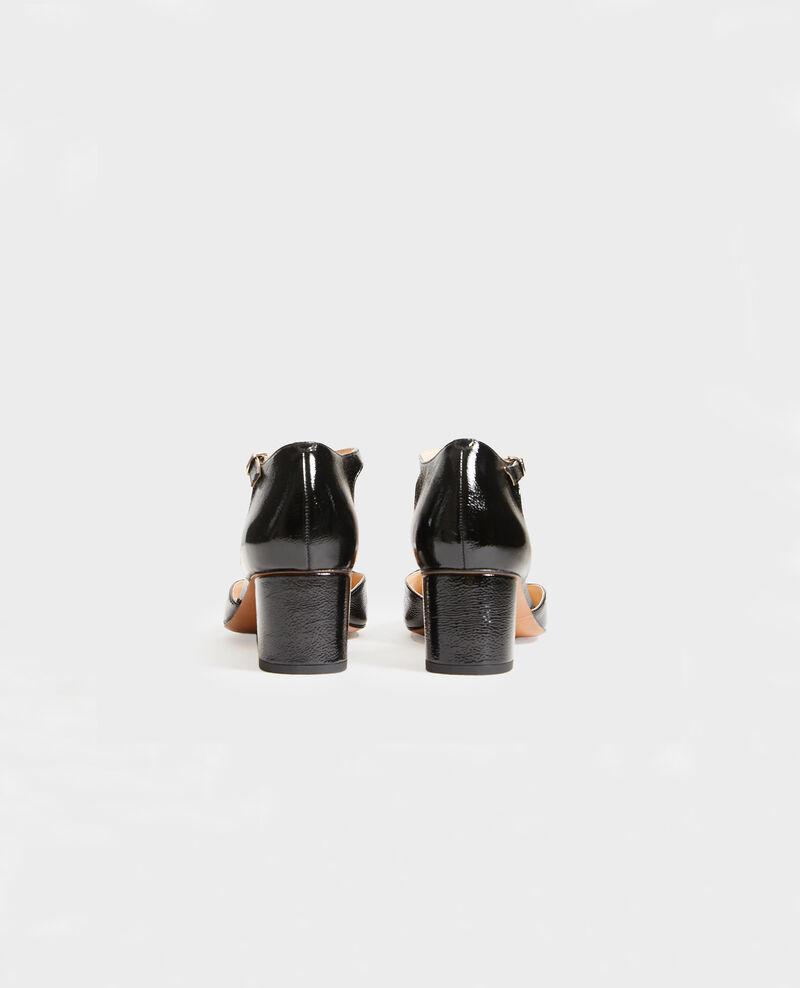Salome-Schuhe aus Lackleder  Black beauty Megeve