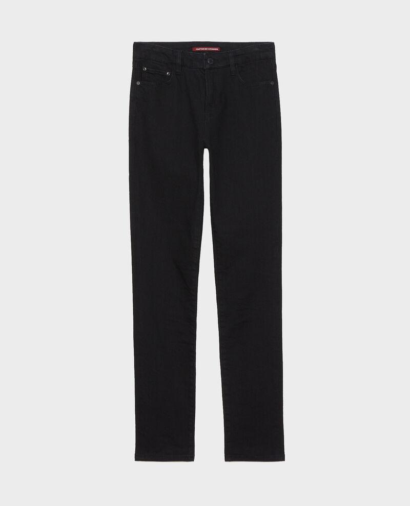 LILI - SLIM - Schwarze Jeans mit Stretch Noir denim Nanblack