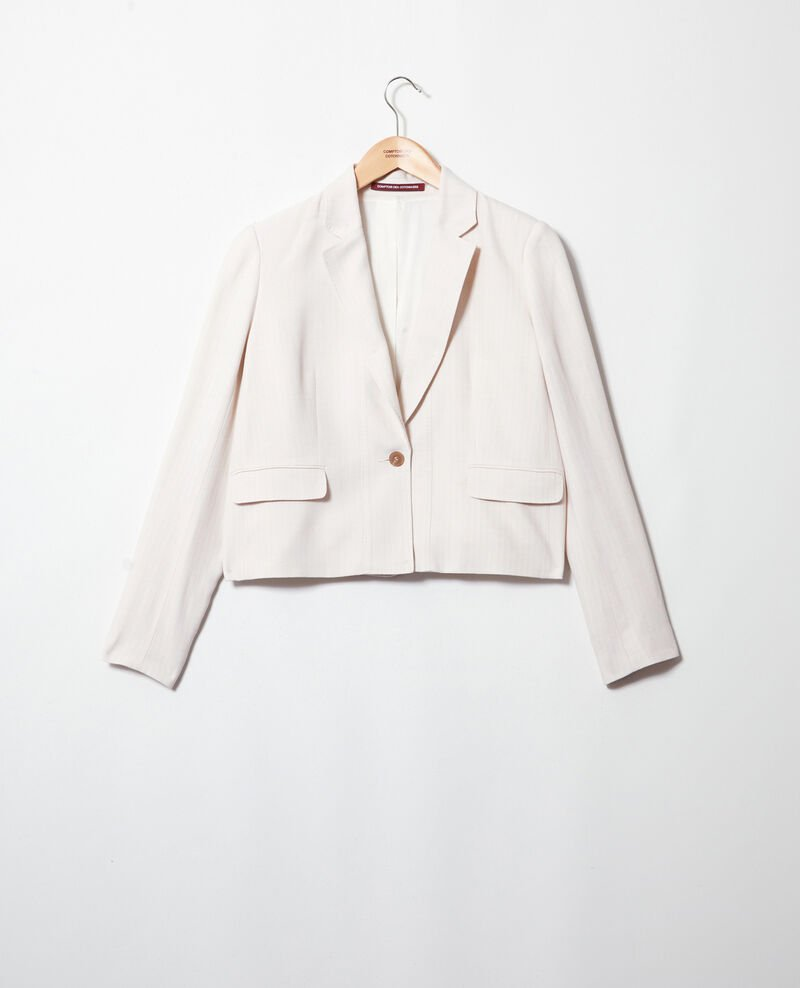 Kurzer Blazer Dust beige/off white Ireille