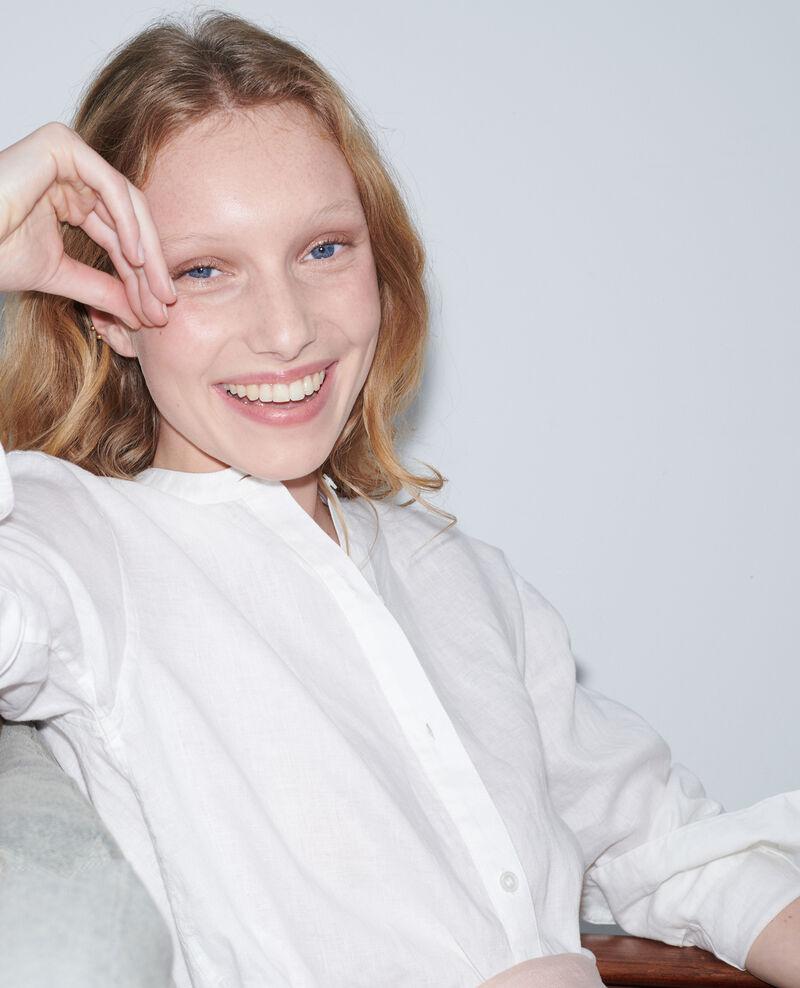 Hemd ohne Kragen aus Leinen Gardenia Nawak