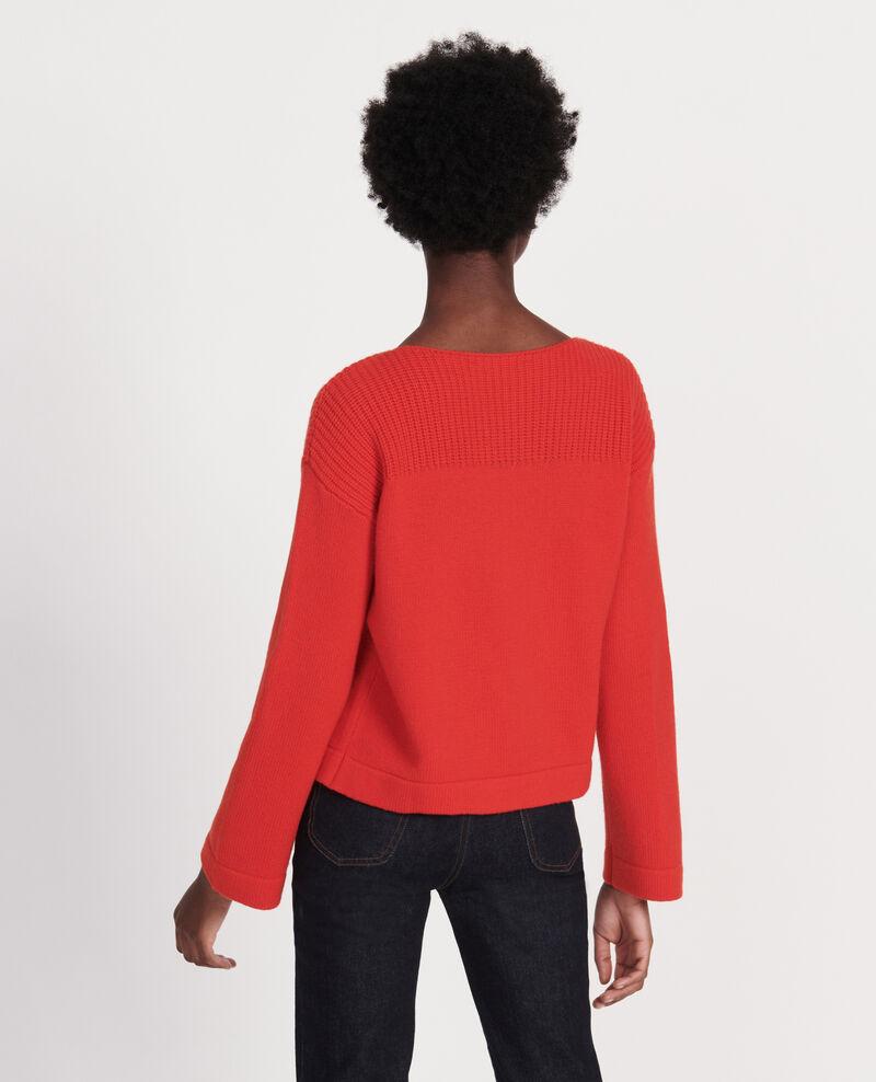 Pullover aus Wolle und Kaschmir Fiery red Lalane