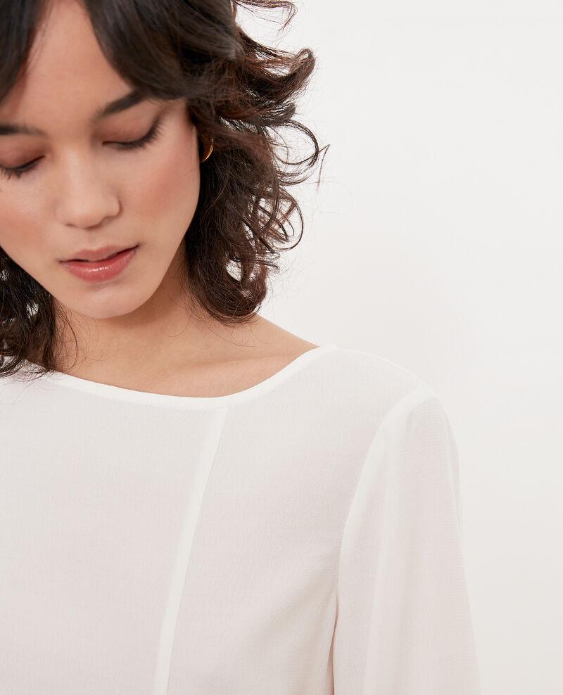 Bluse mit Rundhalsausschnitt Weiß Fontaine