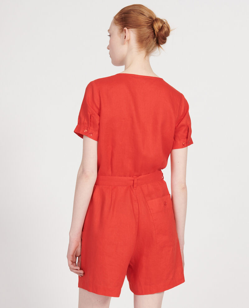 Jumpsuit aus Leinen Fiery red Lariona