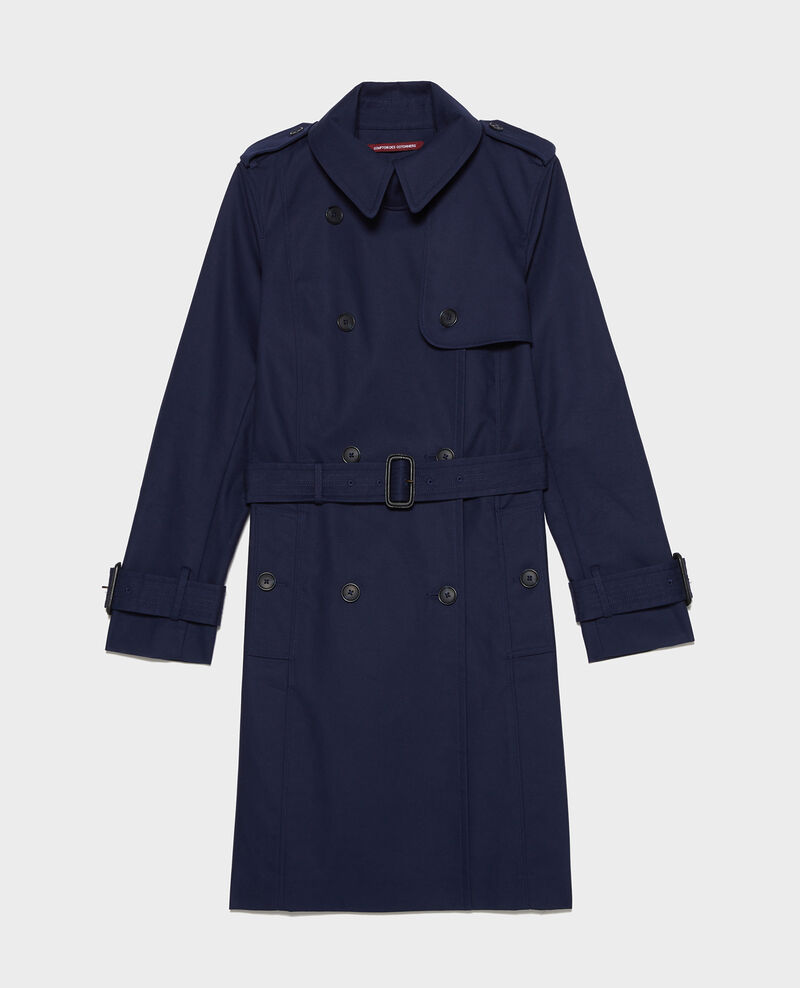 Ikonischer Trenchcoat aus Baumwolle Maritime blue Lambert