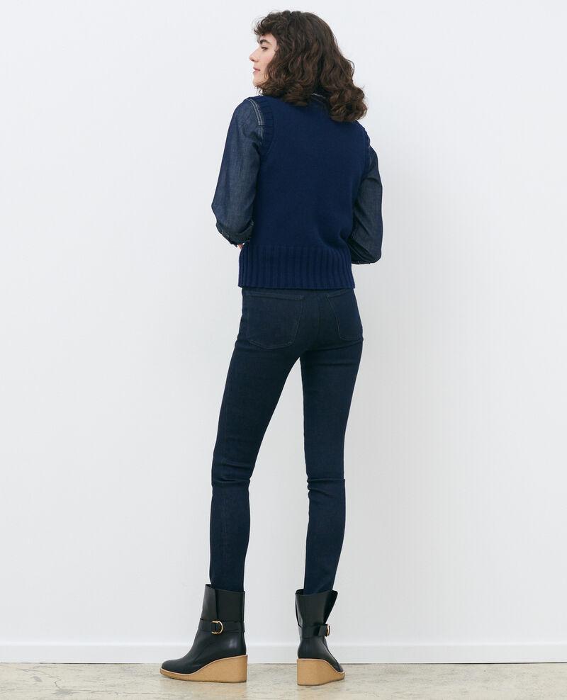 DANI - SKINNY - High-waist-Jeans Dark indigo Rauky
