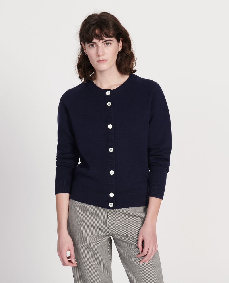 Zeitloser Cardigan aus Wolle Maritime blue Louvres