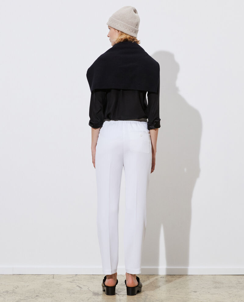 Elastische 7/8-Hose MARGUERITE Brilliant white Napoli