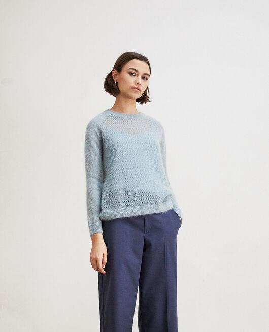 Pullover aus Zierstrick  BLUE MIRAGE