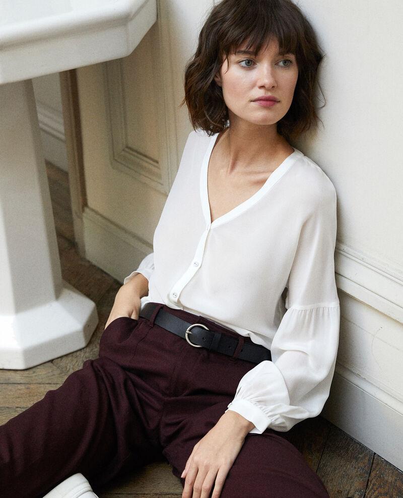 Bluse mit V-Ausschnitt Weiß Gaucelin