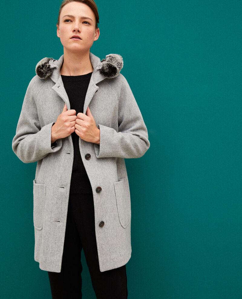 Mantel mit Kapuze Light heather grey Gustin