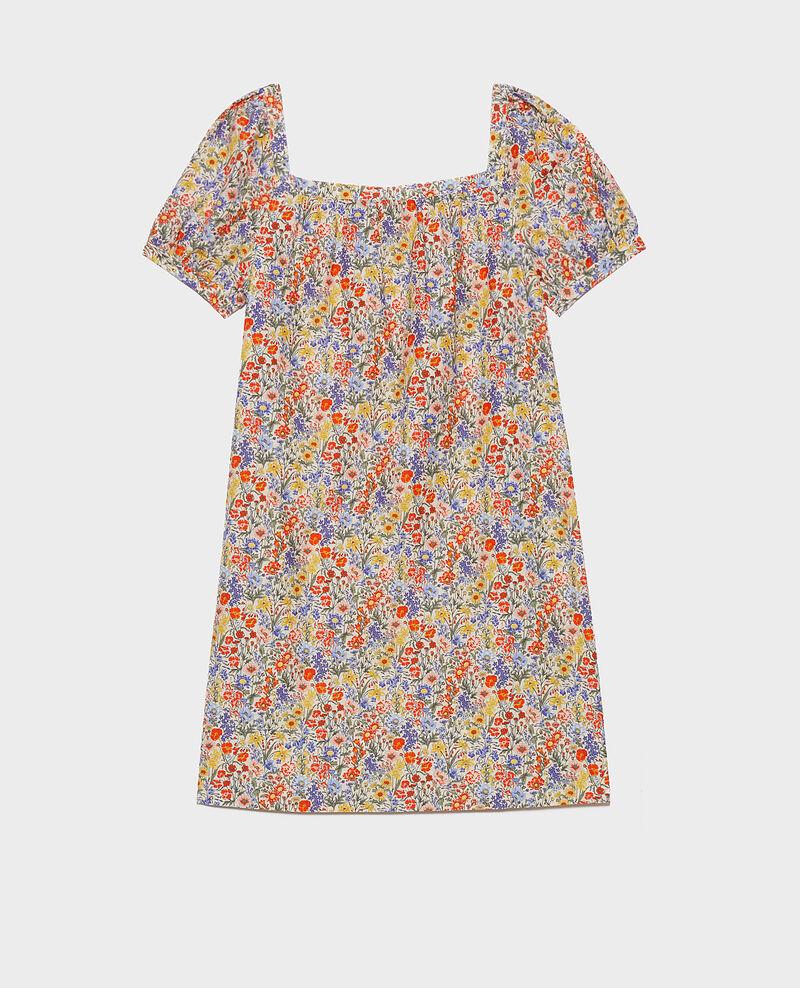 Kurzes Kleid aus Baumwolle und Seide Prairie gardenia Neffa