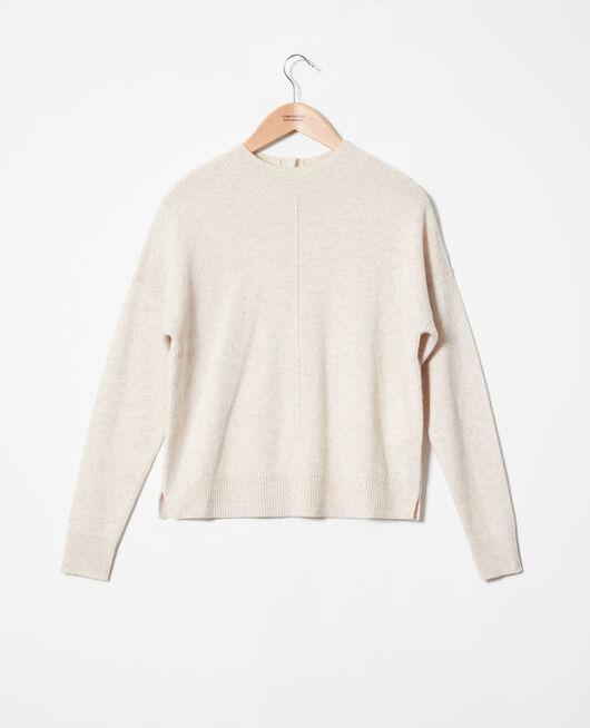 Pullover mit Knöpfen im Rücken BUTTERCREAM