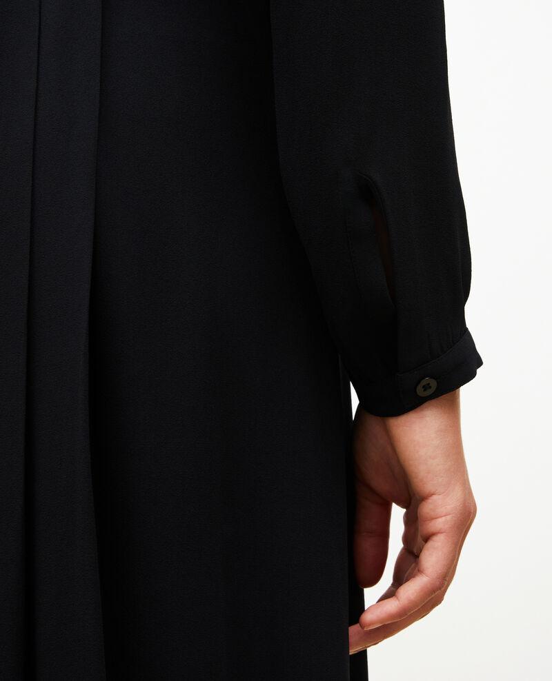 Plissee-Kleid mit Gürtel  Black beauty Marcilia