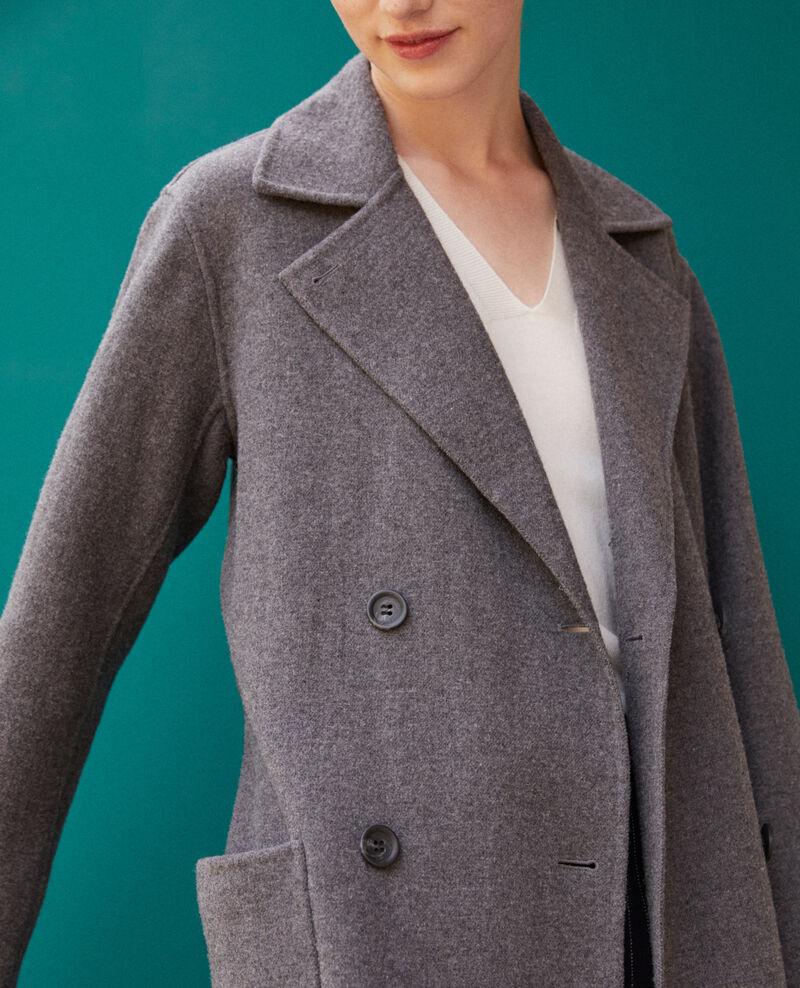 Doppelseitiger Mantel Dark heather grey Gamin