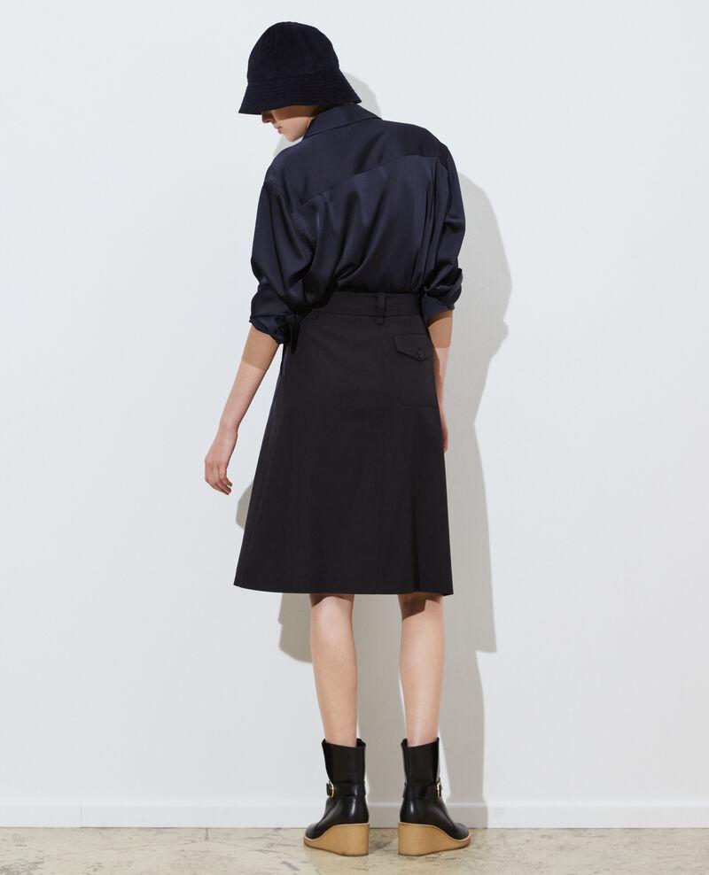 Wickelrock aus Wolle Black beauty Padarac